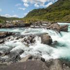 Noch einmal die Stromschnellen im Osorno Nationalpark